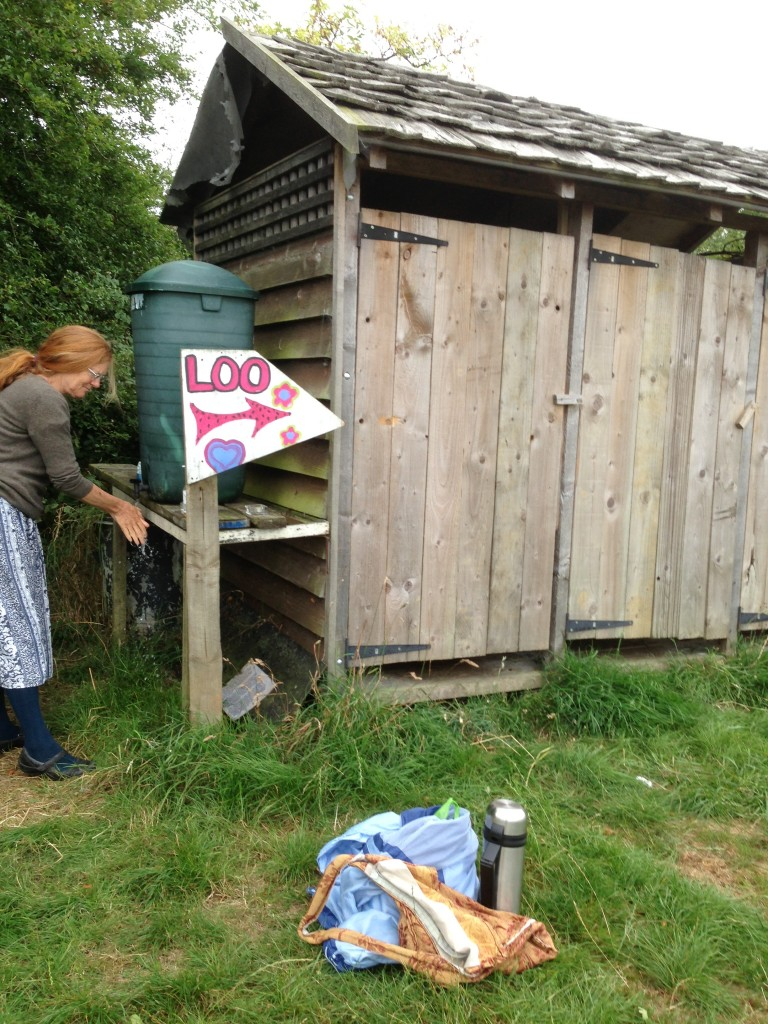 All [the not so] mod cons. The composting toilet and washing facilities worked fine...